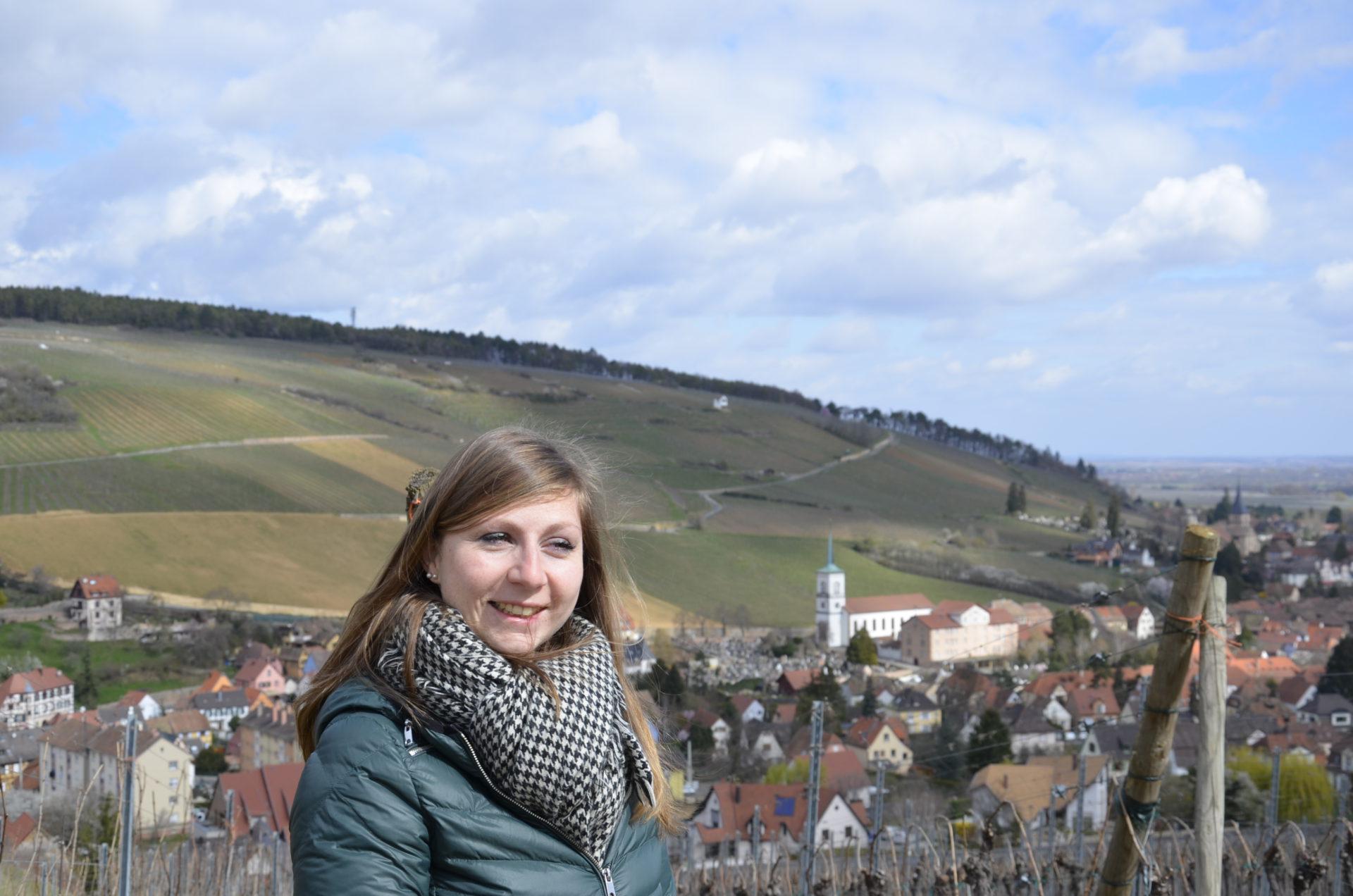 Roxane Hardy l'œnologue du domaine